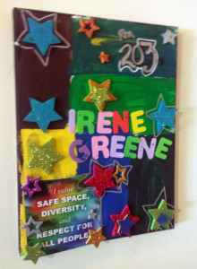 Irene Greene door painting